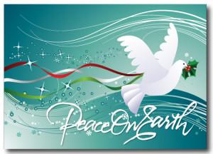 Christmas Peace Dove Postcard