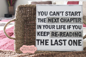 Sign, Next Chapter In Life, Inspirational Quote-next chapter in life ...