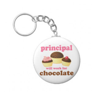 Will Work For Chocolate Key Rings