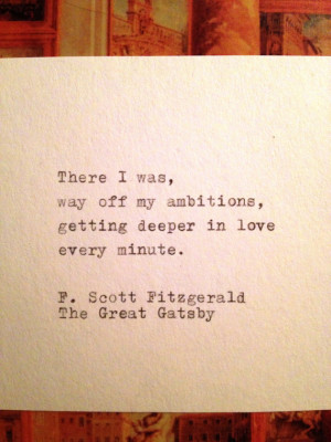You are here: Home › Quotes › The Great Gatsby Quote Typed on ...