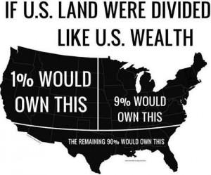 If U.S. land were divided up like U.S. wealth