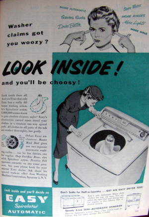 will leave you with some 1950s laundry pictures! No wonder women ...