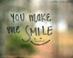 You Make me Smile...!! :-)