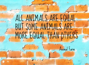 Quote To Ponder The Difference Animal Farm