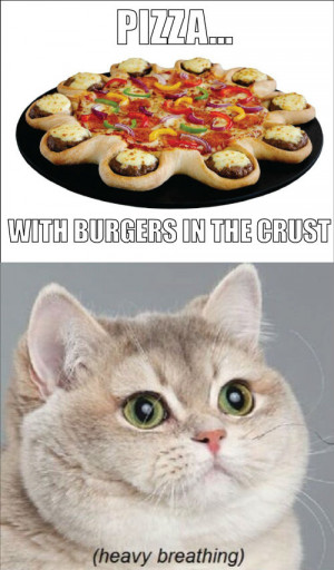 pizza with burgers in the crust