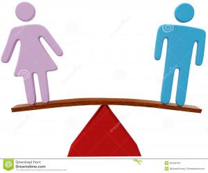 Equilibrio de género igual de la igualdad del sexo del hombre y de la ...