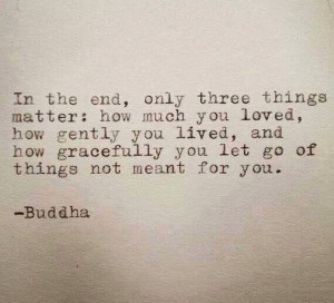 Buddha quote about letting go