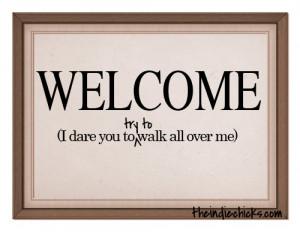 Don't be a doormat