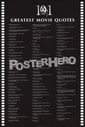 101 Greatest Movie Quotes art print