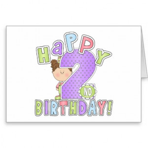 Girls Happy 2nd Birthday Cards