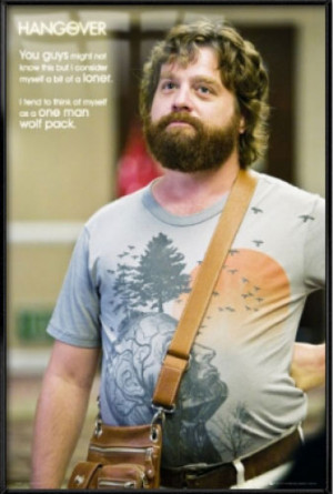 Details about THE HANGOVER - FRAMED MOVIE POSTER (LONE WOLF QUOTE)