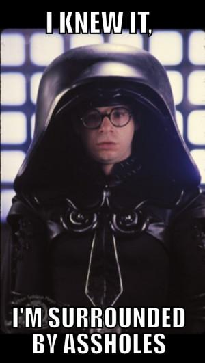 Spaceballs movie Rick Moranis is Dark Helmet