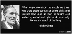 ... soldiers lay outside and I glanced at them coldly. We were in search