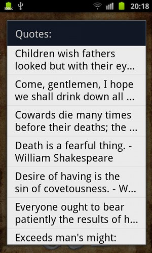 Shakespeare Quotes - screenshot