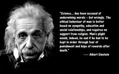 Science ... has been accused of undermining morals - but wrongly. The ...