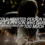 Cold Hearted People Quotes