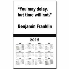 Benjamin Franklin Love Life Quote Calendar Print