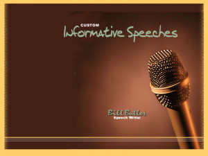 Informative speeches cover a variety of