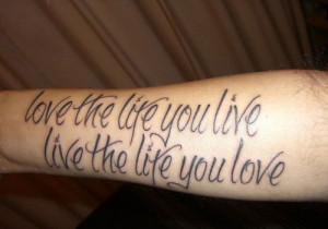 tattoo quotes for men rib tattoo 30 good tattoo quote live 25 famous ...