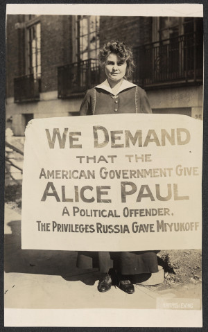 ... the political imprisonment of Alice Paul with