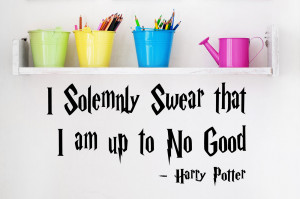 Details about HARRY POTTER QUOTE WALL STICKERS UP TO NO GOOD BOYS ...