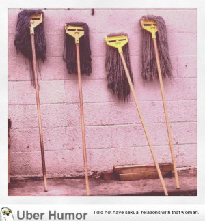 these mops behind a local chinese food place look like a bitchy and ...