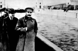 Nikolai Yezhov , walking with Stalin in the top photo from the 1930s ...