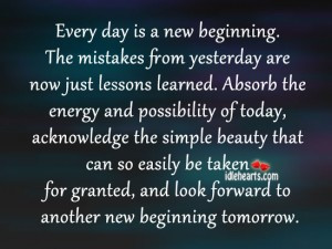 Beginning Quotes - A New Beginning - Quotes on New Beginnings - Quote