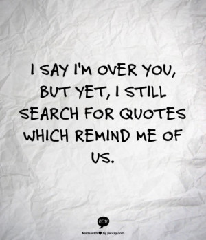 Im Over You Quotes Group of: im not over you.