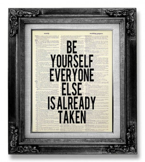 Inspirational Quote Poster OFFICE Decor Man, Be Yourself Print ...
