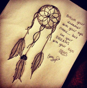 Live Your Dreams With Your Eyes Open: Quote About Dream Your Dreams ...
