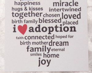 Love Adoption Art Print 5x5