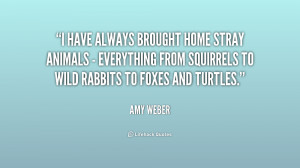 have always brought home stray animals - everything from squirrels ...