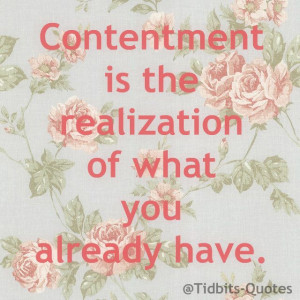 Home Quotes Contentment Quotes