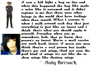 Andy Biersack Quote About Bugs by murtaghmorzansson