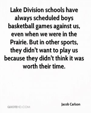 Lake Division schools have always scheduled boys basketball games ...