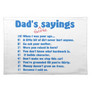 Cheer Dad Sayings Dad's favourite sayings on great father's day t ...