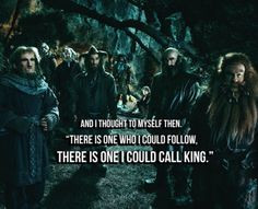 The company of Thorin Oakenshield...Fili and Kili are still sitting ...