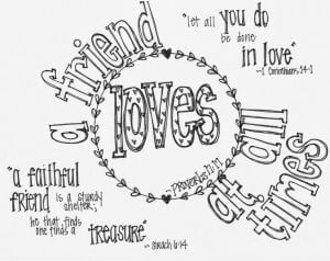 ... Coloring Page with Bible verses-