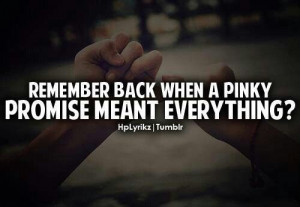 Pinky promise!!!