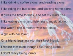 alone vs. lonely