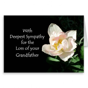 Tulip Sympathy Card - Loss of a Grandfather