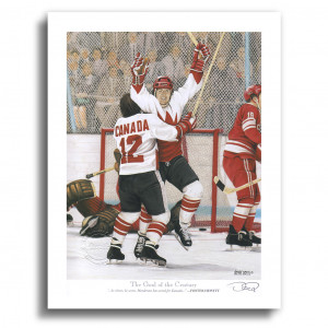 PAUL HENDERSON The Goal TEAM CANADA 72 SUMMIT SERIES 1972 Signed by ...