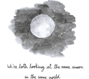 Looking at the Moon - 7 Inspirational Long Distance Relationship ...
