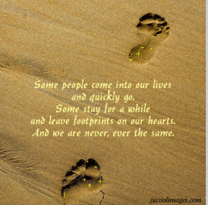 quotes about friends leaving footprints