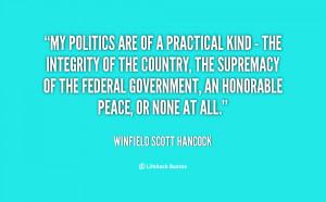 Winfield Scott Hancock Quotes