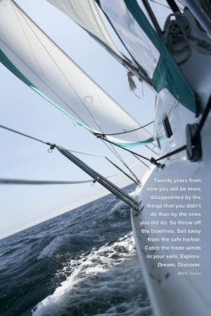 Motivational pic of the week #32: Mark Twain on Sailing