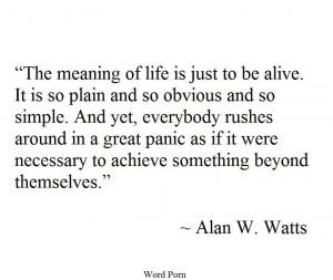 Alan Watts on life motivational inspirational love life quotes sayings ...