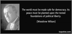 woodrow wilson quotes world war 1