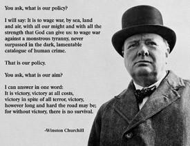 Winston Churchill Regulations Quote Poster